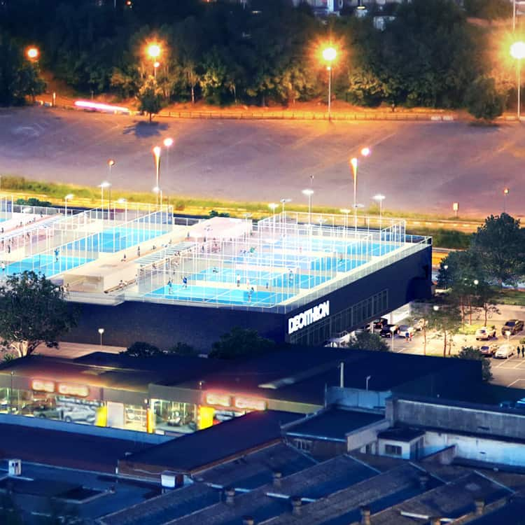 5 padel courts