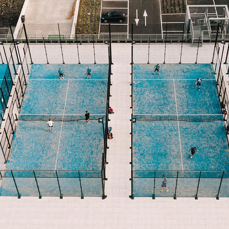 5 padel courts (Open 2/6/2020)